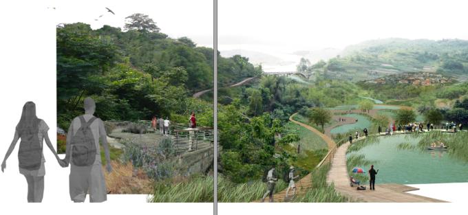[重庆]滨江山林区古邑文化休闲廊道景观改造修复设计方案