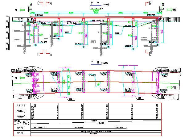 [施工图]先简支后连续5x20m后张法预应力转换空心图纸纸质cad图片