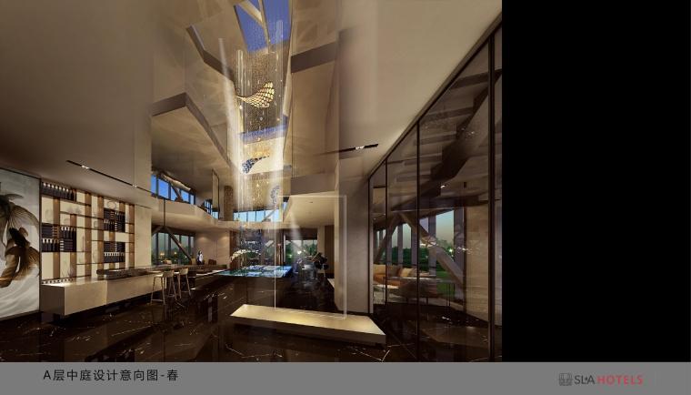 北京枢密院顶层私人会所室内空间概念设计
