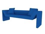 蓝色沙发3D模型下载