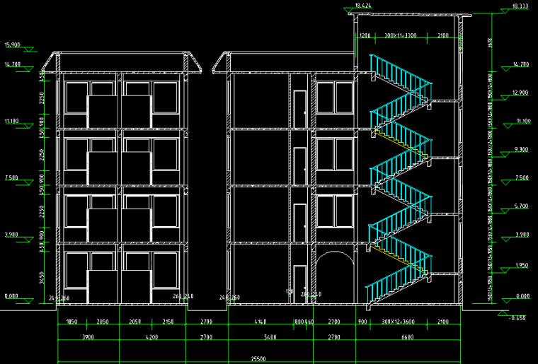 医院住院大楼全套图CAD_6