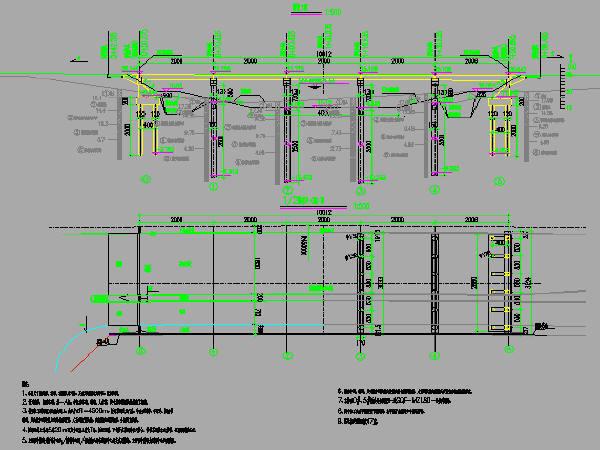 2016年设计跨河桥面连续5x20m简支T梁桥工程施工图设计45张CAD(C50混凝土)