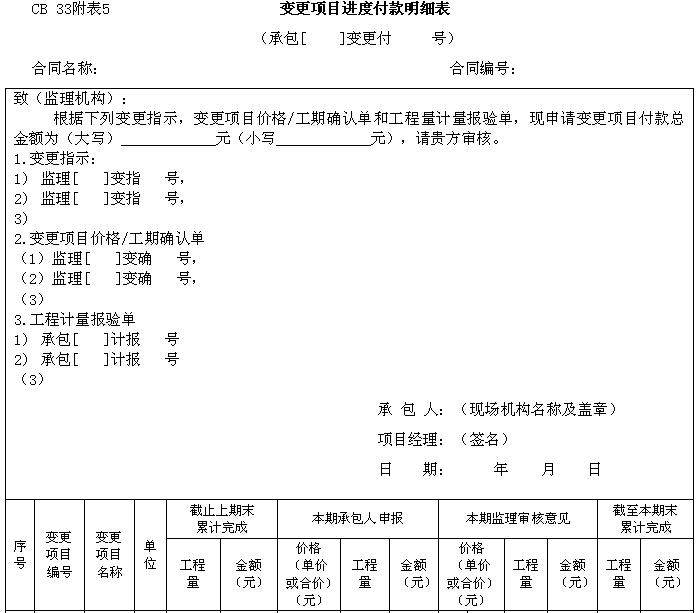 水利工程监理规范用表大全(直接套用)_1