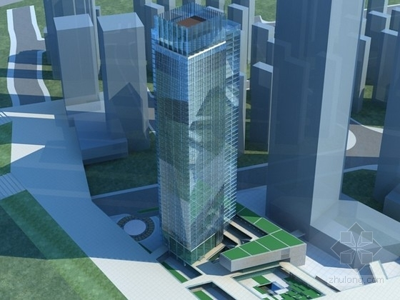 [福建]某超高层写字楼建筑设计方案文本(含CAD)