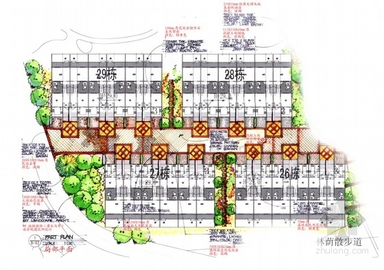 [南京]欧式山体生态别墅区环境景观扩初设计方案