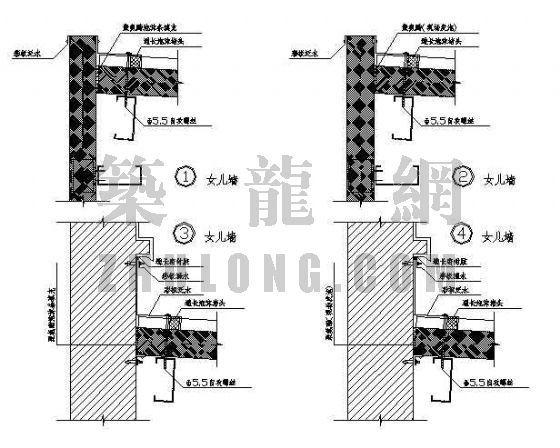 金属绝热夹心板屋面墙面建筑构造图集(压型钢板图集)