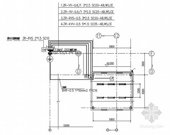 某汽车公司总装车间扩建工程电气图纸