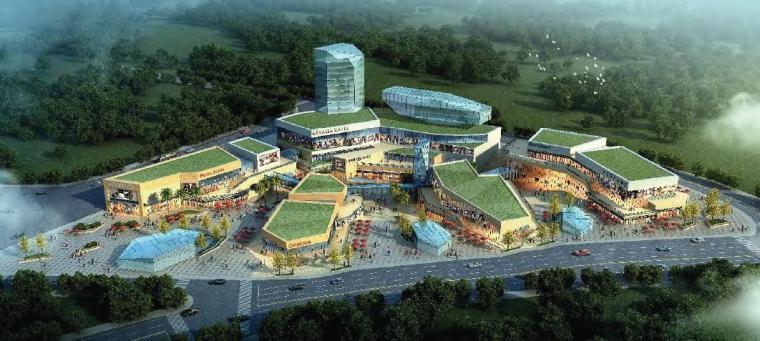 [武汉]超高层新现代典雅风格商业综合体建筑设计方案文本(16年)