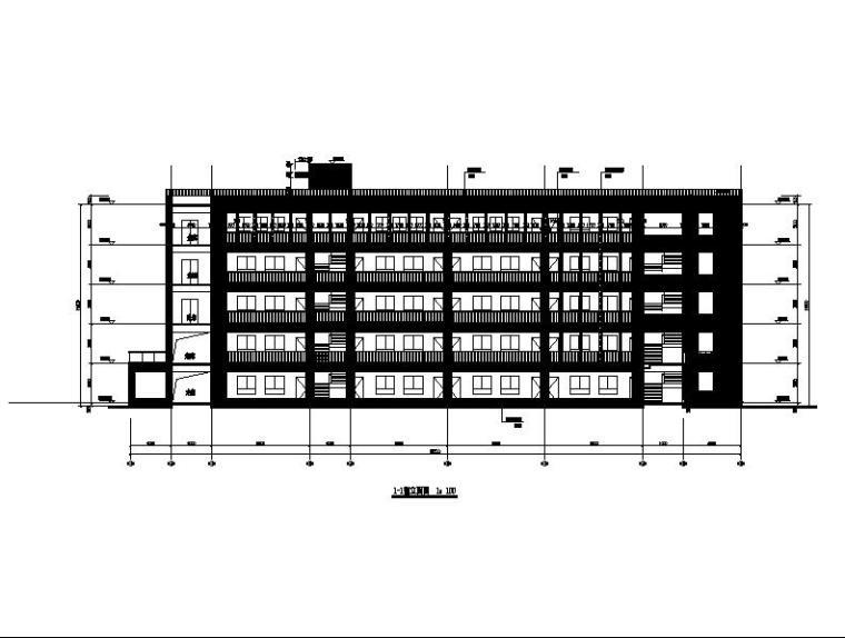 [浙江]五层长条形面砖外墙市级中学建筑施工图(含效果图)_4