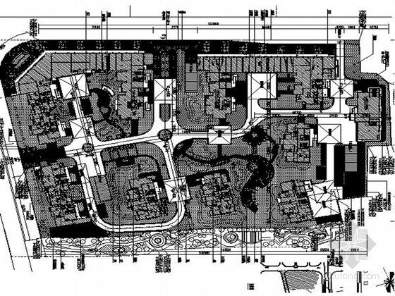 [温州]欧式大气典雅城中村改造景观施工图(独家原创)