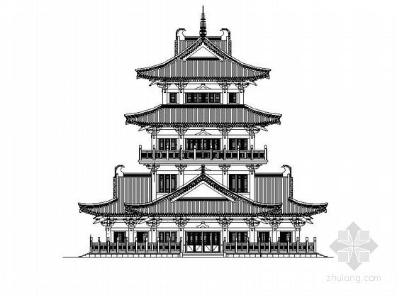 [四川]旅游产业园大型古建施工图(图纸精细 古建标杆)