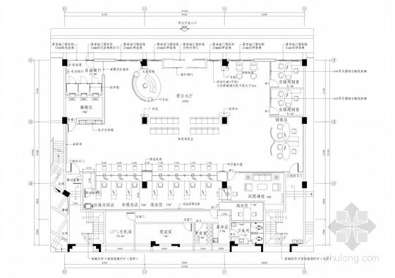 UPS插座布置资料下载-[江苏]全国连锁现代风格金融机构室内装修施工图
