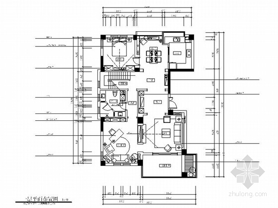 [浙江]美式乡村风格两层别墅室内设计装修施工图(含软装效果)