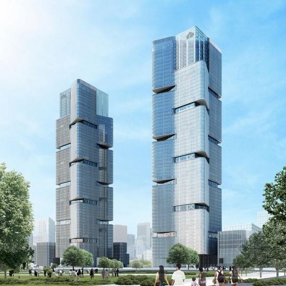 [中央广场]64层环带桁架框筒结构办公楼结构施工图(南地块)