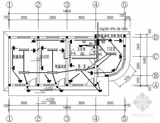特殊教育学校门卫室电气施工图纸