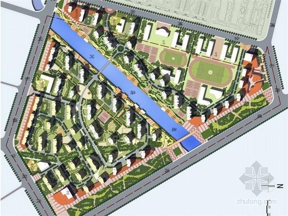 [山东]花园式滨河高档居住区规划设计方案