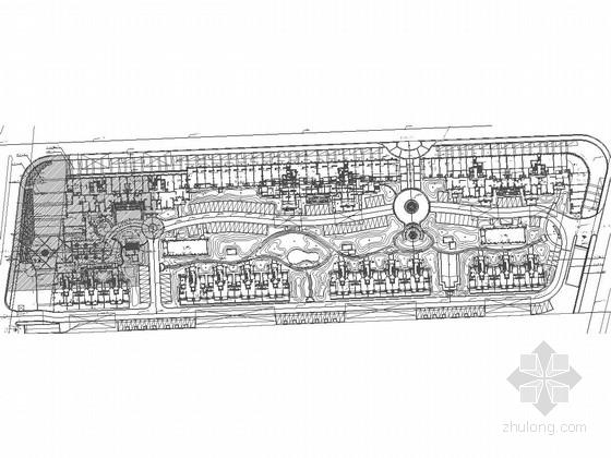 [江苏]高档住宅小区广场景观规划设计施工图