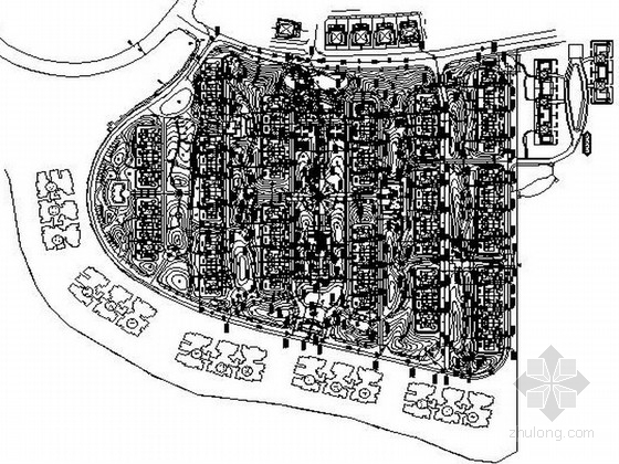 [成都]生态小高层住宅小区组团绿地景观设计施工图(知名设计公司)