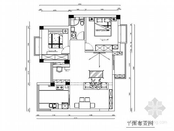 清新田园地中海混搭风格两居室装修室内设计施工图(含效果)