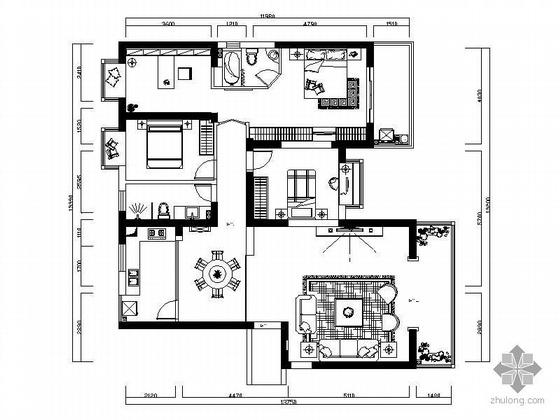 [南昌]某居室空间室内设计图
