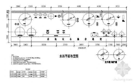 20t/hRO+MB超纯水处理平面布置图