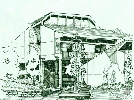 某市第八人民医院规划及建筑设计方案(包括效果图)