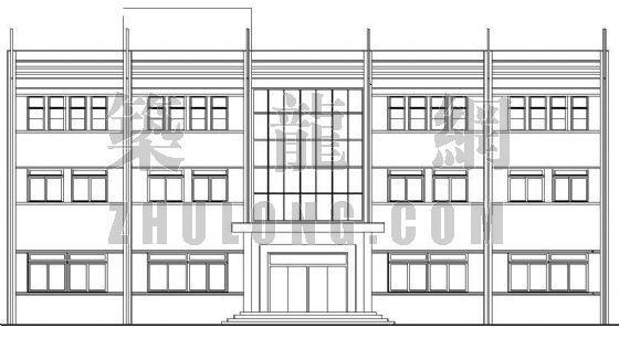 某村委会办公楼建筑施工图
