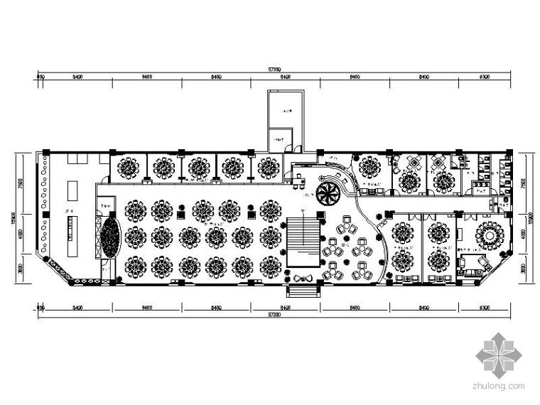 [成都]现代某大饭店中餐厅室内装修图