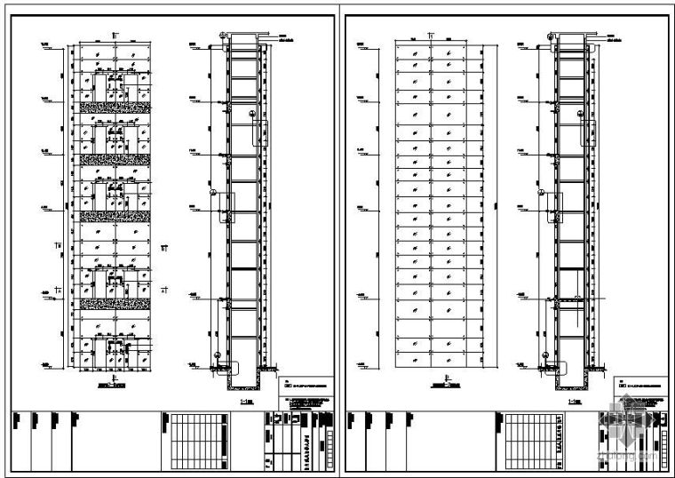 某观光电梯玻璃幕墙设计图