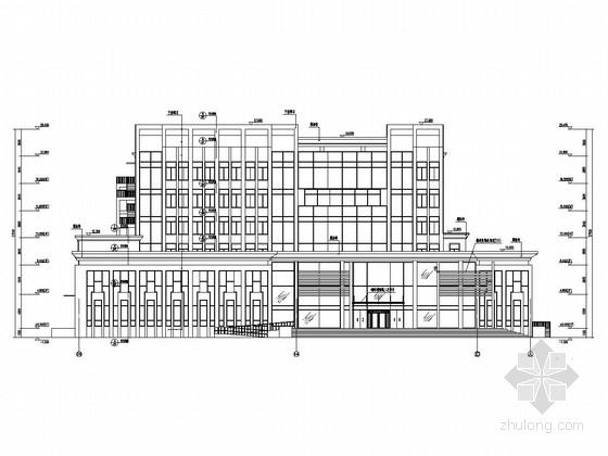 [辽宁]七层框架剪力墙结构金融营业办公用房建筑结构施工图