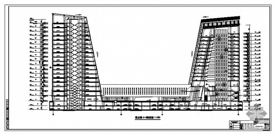 四川某高层大厦建筑结构图