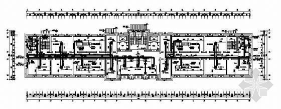 vrv空调施工平面图资料下载-某工程VRV空调平面图