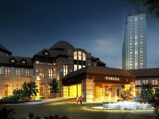 [河南]某六层欧式酒店建筑方案文本(南京知名设计院)