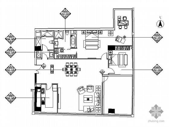 [北京]知名公寓F型标准层样板房装修图