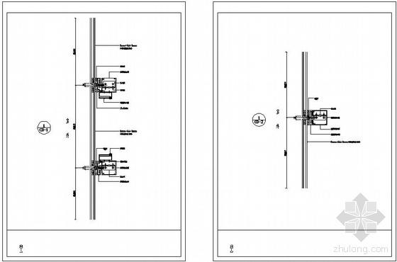 某玻璃幕墙节点构造详图