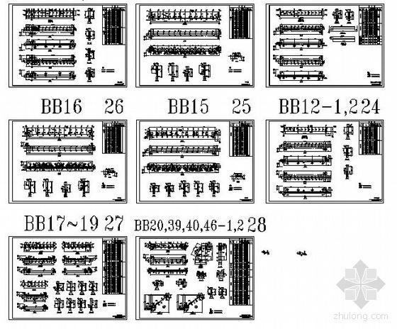 某钢结构厂房深化设计节点构造详图