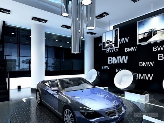 vr展厅3d模型资料下载-宝马车展展厅3d模型下载