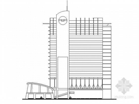 [南昌]某十九层商业综合楼建筑方案图