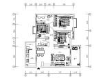 [湖南]简约时尚活力住宅空间设计施工图