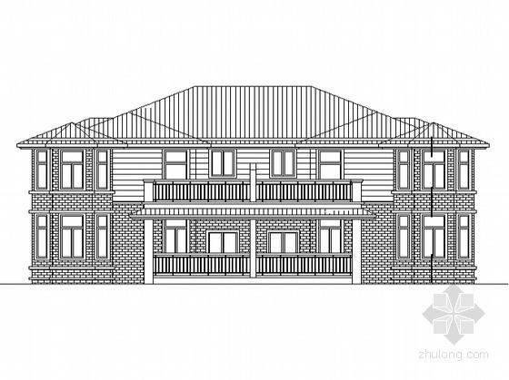 [南京市六合区]某二层双拼别墅建筑施工图(含效果图)
