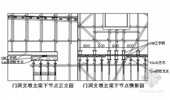 分离式立体交叉斜腿钢构支架计算书