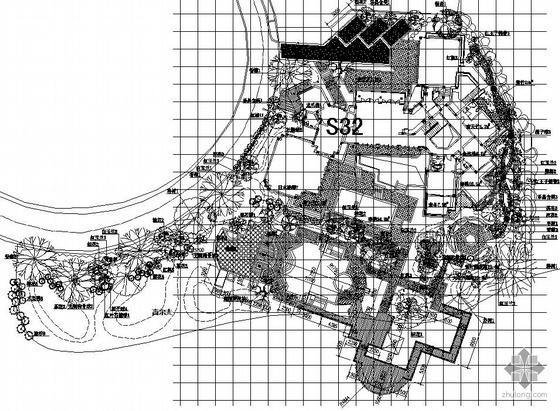某别墅种植绿化及铺装设计施工图