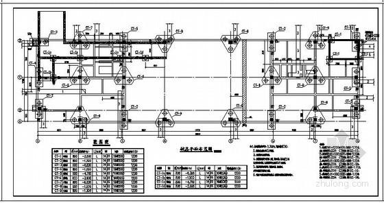 某铁路沿线候车厅框架结构设计图