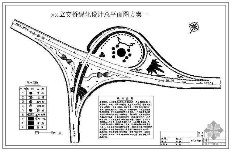 高速公路互通立交绿化设计图