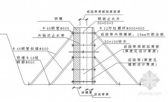 高层建筑地下室后浇带超前止水施工工法(省级工法)