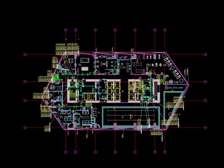 服务设施电力平面图
