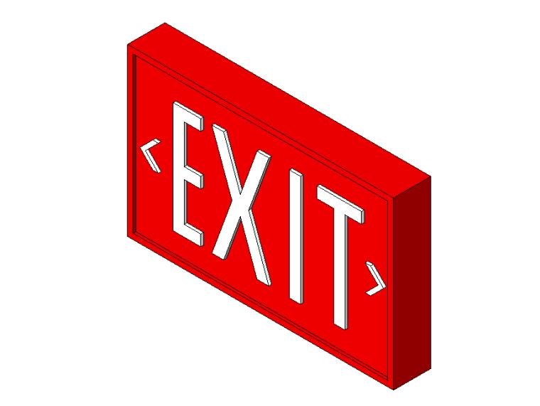 bim软件应用-族文件-出口标牌