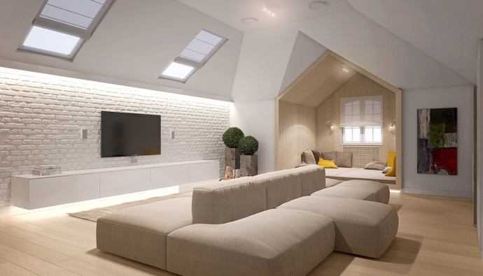成都别墅装修效果图 简约是一种态度,是对生活的理解
