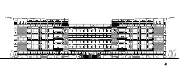 某中学7层教学楼施工图