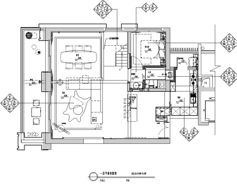 [广东]现代风格跃层样板房设计施工图(附效果图+物料)